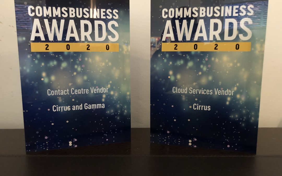 Congratulations to Cirrus on winning two Comms Business Awards